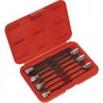 Sealey AK62255 Hex Socket Bit Set 7pc 3/8″Sq Drive 150mm Metric
