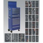 Sealey SPTCCOMBO1 Tool Chest Combi 14 Drawer BB Runners Blue & 117…