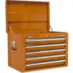 Sealey AP26059TO Topchest 5 Drawer with Ball Bearing Runners – Orange