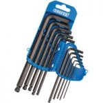 Draper 33694 10 Piece Metric Hexagon and Ball End Hexagon Key Set