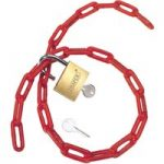 Draper 55818 Padlock and PVC Coated Steel Chain