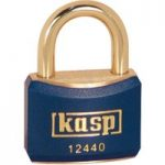Kasp K12440BLUD Brass Padlock – 40mm – Brass Shackle – Blue