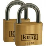 Kasp K12530D2 Premium Brass Padlock – 30mm – Twin